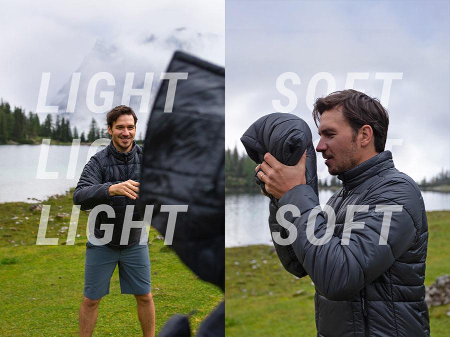 Man catches jacket