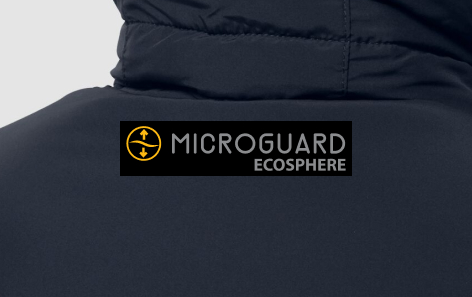 Section of a dark blue jacket
